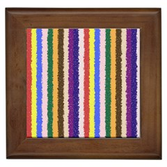 Vivid Colors Curly Stripes   1 Framed Ceramic Tile by BestCustomGiftsForYou