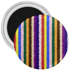 Vivid Colors Curly Stripes   1 3  Button Magnet by BestCustomGiftsForYou
