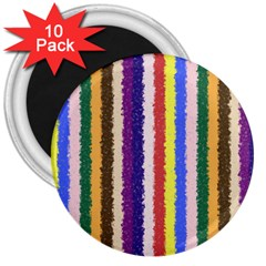 Vivid Colors Curly Stripes   1 3  Button Magnet (10 Pack) by BestCustomGiftsForYou