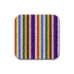 Vivid Colors Curly Stripes   1 Drink Coaster (square) by BestCustomGiftsForYou