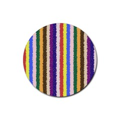 Vivid Colors Curly Stripes   1 Drink Coaster (round) by BestCustomGiftsForYou