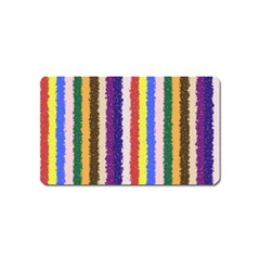 Vivid Colors Curly Stripes   1 Magnet (name Card) by BestCustomGiftsForYou