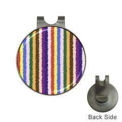 Vivid Colors Curly Stripes   1 Hat Clip With Golf Ball Marker by BestCustomGiftsForYou