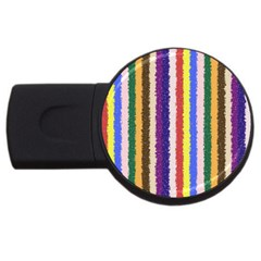 Vivid Colors Curly Stripes - 1 4GB USB Flash Drive (Round) by BestCustomGiftsForYou