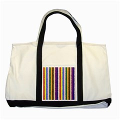 Vivid Colors Curly Stripes   1 Two Toned Tote Bag by BestCustomGiftsForYou