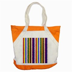Vivid Colors Curly Stripes - 1 Accent Tote Bag by BestCustomGiftsForYou