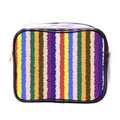 Vivid Colors Curly Stripes   1 Mini Travel Toiletry Bag (one Side) by BestCustomGiftsForYou