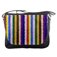 Vivid Colors Curly Stripes   1 Messenger Bag by BestCustomGiftsForYou