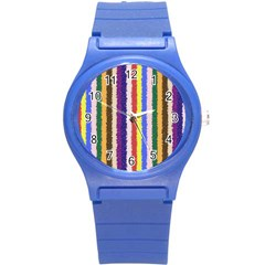 Vivid Colors Curly Stripes   1 Plastic Sport Watch (small) by BestCustomGiftsForYou