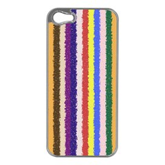 Vivid Colors Curly Stripes   1 Apple Iphone 5 Case (silver) by BestCustomGiftsForYou