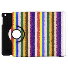 Vivid Colors Curly Stripes   1 Apple Ipad Mini Flip 360 Case by BestCustomGiftsForYou