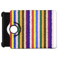 Vivid Colors Curly Stripes   1 Kindle Fire Hd Flip 360 Case by BestCustomGiftsForYou