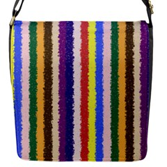 Vivid Colors Curly Stripes   1 Flap Closure Messenger Bag (small) by BestCustomGiftsForYou