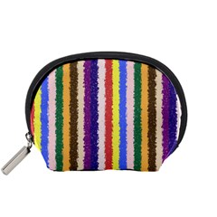 Vivid Colors Curly Stripes   1 Accessory Pouch (small)