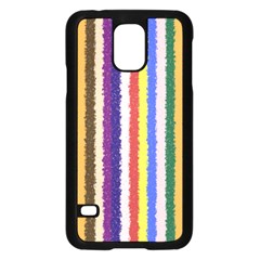 Vivid Colors Curly Stripes   1 Samsung Galaxy S5 Case (black)