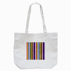 Vivid Colors Curly Stripes   1 Tote Bag (white) by BestCustomGiftsForYou