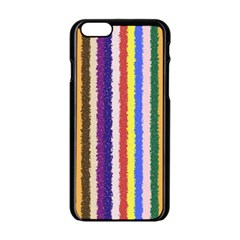 Vivid Colors Curly Stripes   1 Apple Iphone 6 Black Enamel Case by BestCustomGiftsForYou