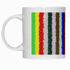 Vivid Colors Curly Stripes   2 White Coffee Mug by BestCustomGiftsForYou