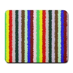 Vivid Colors Curly Stripes   2 Large Mouse Pad (rectangle) by BestCustomGiftsForYou