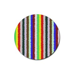 Vivid Colors Curly Stripes   2 Drink Coaster (round) by BestCustomGiftsForYou
