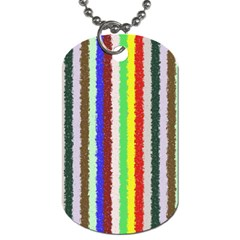 Vivid Colors Curly Stripes   2 Dog Tag (two Sided)  by BestCustomGiftsForYou