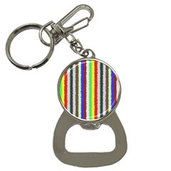 Vivid Colors Curly Stripes   2 Bottle Opener Key Chain by BestCustomGiftsForYou