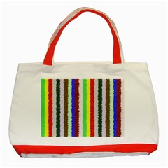 Vivid Colors Curly Stripes   2 Classic Tote Bag (red) by BestCustomGiftsForYou