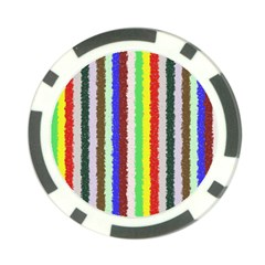Vivid Colors Curly Stripes   2 Poker Chip by BestCustomGiftsForYou