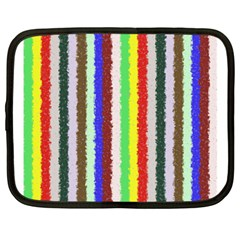 Vivid Colors Curly Stripes   2 Netbook Sleeve (large) by BestCustomGiftsForYou