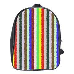 Vivid Colors Curly Stripes   2 School Bag (large) by BestCustomGiftsForYou