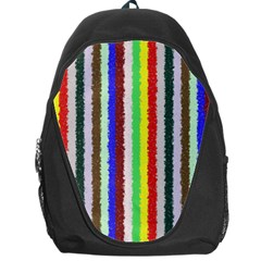 Vivid Colors Curly Stripes   2 Backpack Bag by BestCustomGiftsForYou