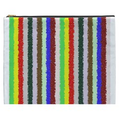 Vivid Colors Curly Stripes   2 Cosmetic Bag (xxxl) by BestCustomGiftsForYou