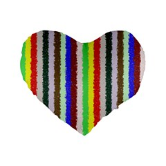Vivid Colors Curly Stripes   2 16  Premium Heart Shape Cushion  by BestCustomGiftsForYou