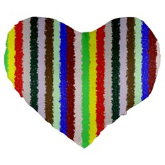Vivid Colors Curly Stripes   2 19  Premium Heart Shape Cushion by BestCustomGiftsForYou