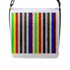 Vivid Colors Curly Stripes   2 Flap Closure Messenger Bag (large) by BestCustomGiftsForYou