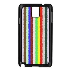 Vivid Colors Curly Stripes   2 Samsung Galaxy Note 3 N9005 Case (black)