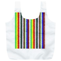 Vivid Colors Curly Stripes   2 Reusable Bag (xl) by BestCustomGiftsForYou