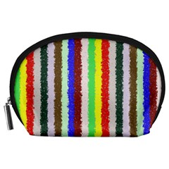Vivid Colors Curly Stripes   2 Accessory Pouch (large) by BestCustomGiftsForYou