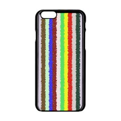 Vivid Colors Curly Stripes   2 Apple Iphone 6 Black Enamel Case by BestCustomGiftsForYou