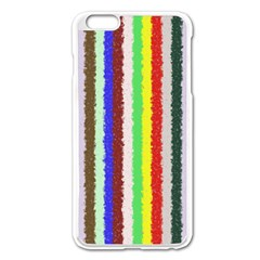 Vivid Colors Curly Stripes   2 Apple Iphone 6 Plus Enamel White Case