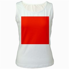Bright Red Women s Tank Top (white) by BestCustomGiftsForYou