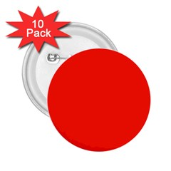 Bright Red 2 25  Button (10 Pack)