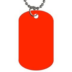 Bright Red Dog Tag (Two-sided)  by BestCustomGiftsForYou