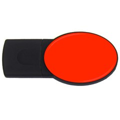 Bright Red 4gb Usb Flash Drive (oval)