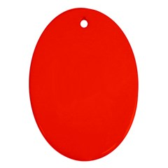 Bright Red Oval Ornament (two Sides)