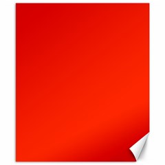 Bright Red Canvas 8  X 10  (unframed)