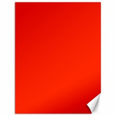 Bright Red Canvas 12  X 16  (unframed)