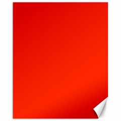 Bright Red Canvas 16  X 20  (unframed)
