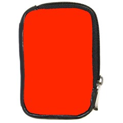 Bright Red Compact Camera Leather Case