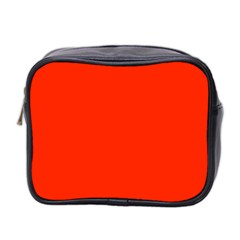 Bright Red Mini Travel Toiletry Bag (two Sides)